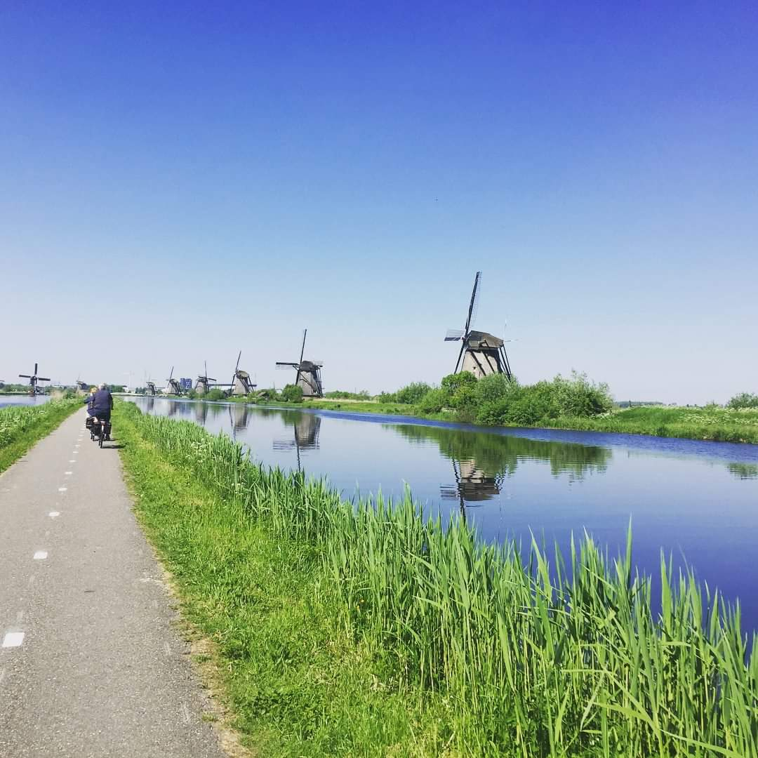 Photo 1: Balade à vélo aux moulins de Kinderdijk