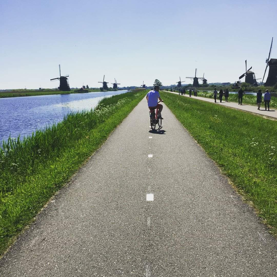 Photo 3: Balade à vélo aux moulins de Kinderdijk