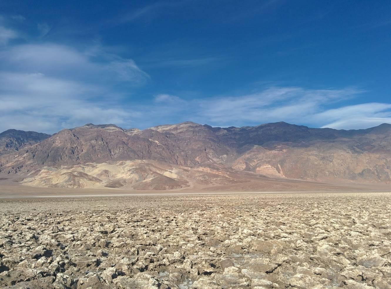 Photo 1: Dans la fournaise de la Death Valley