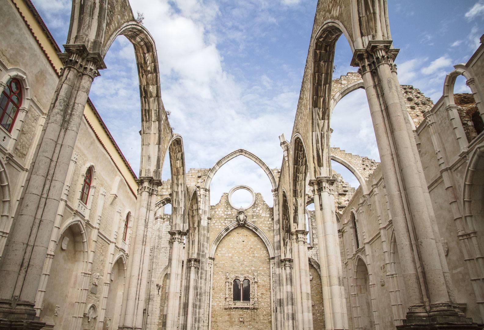 Photo 1: Le couvent des carmes - Lisbonne