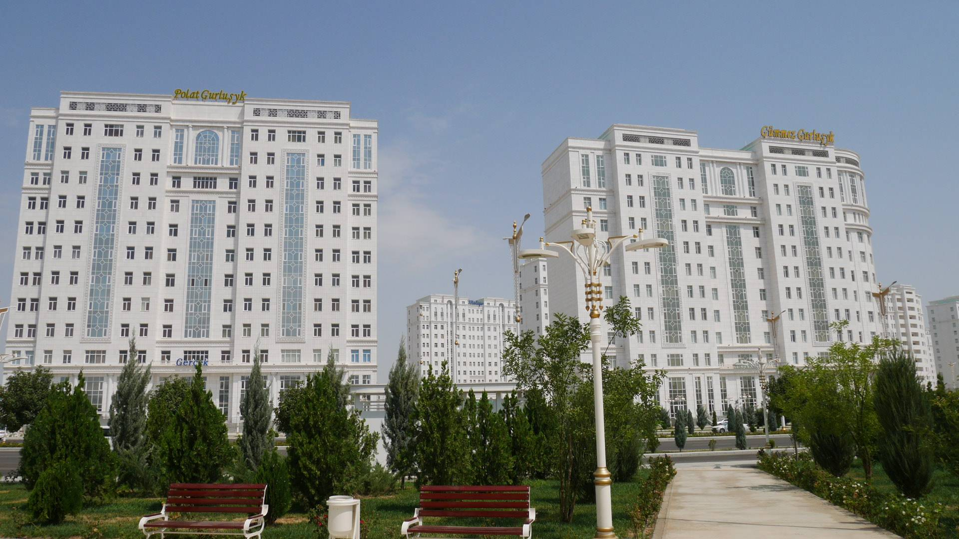 Photo 1: Ashgabat, le Las Vegas du dictateur
