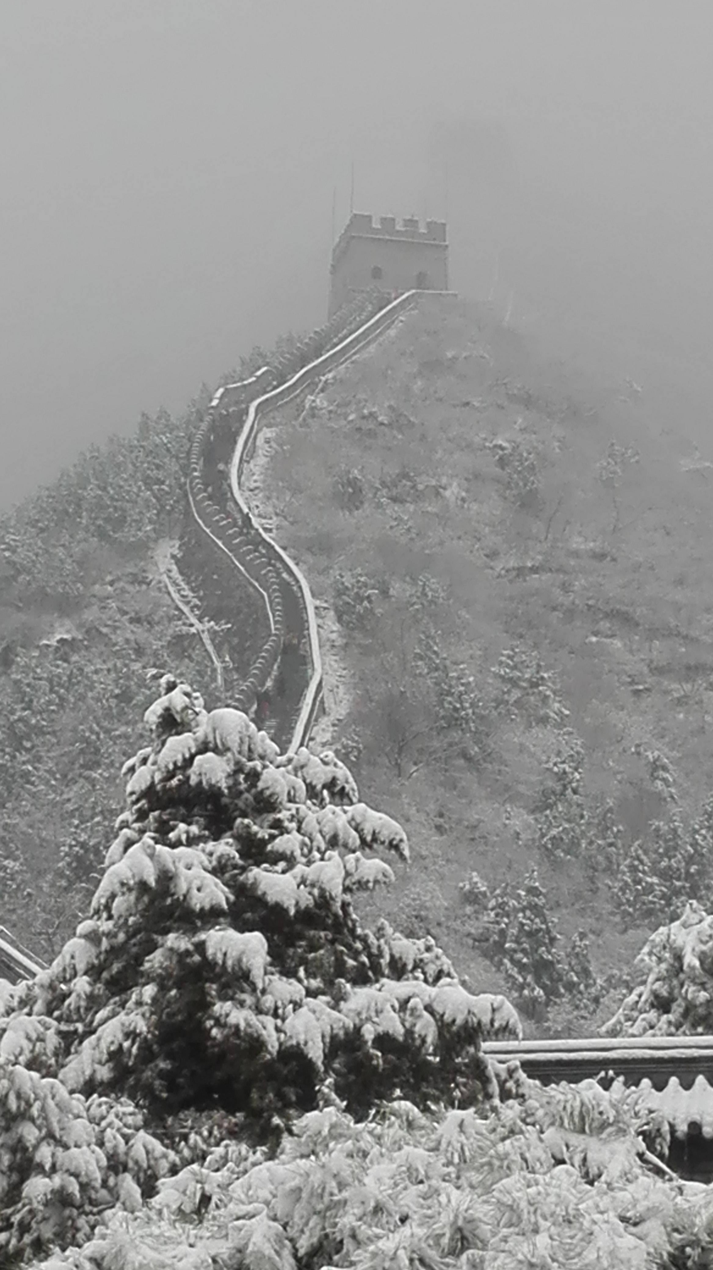 Photo 1: La Grande Muraille de Chine....sous la neige....