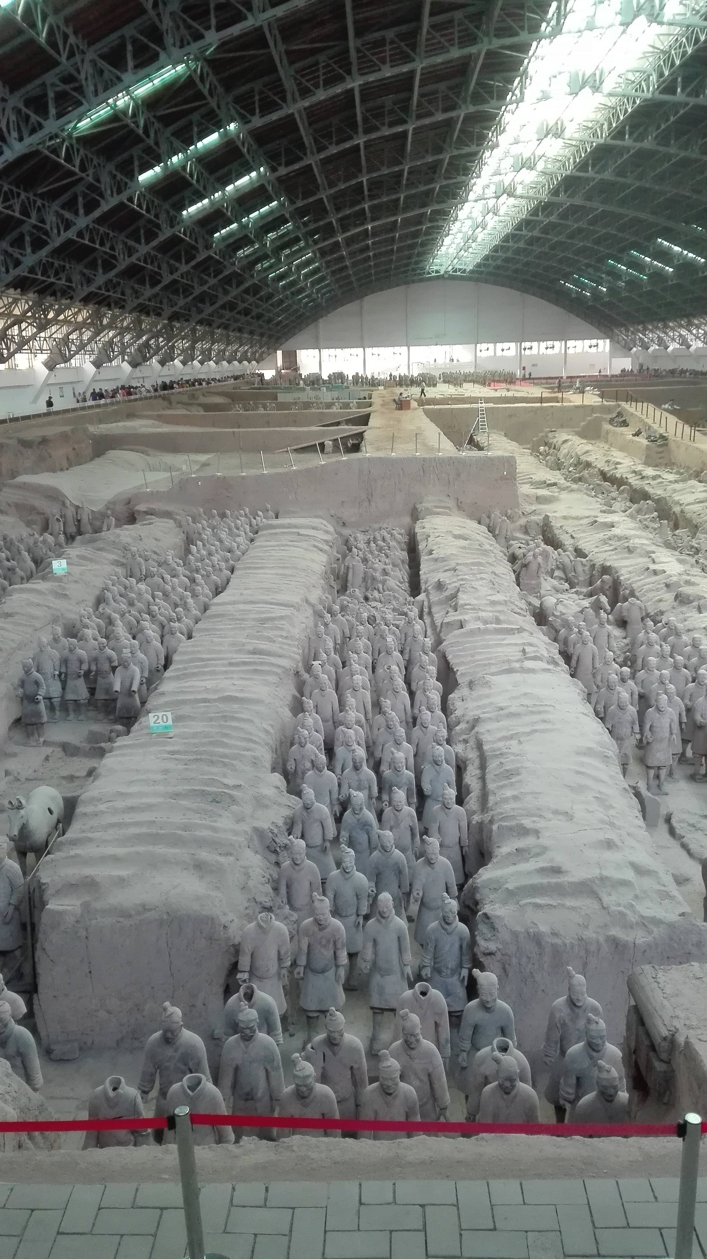 Photo 1: L'Armée de terre cuite à Xi'An, Chine. Un rêve réalisé...