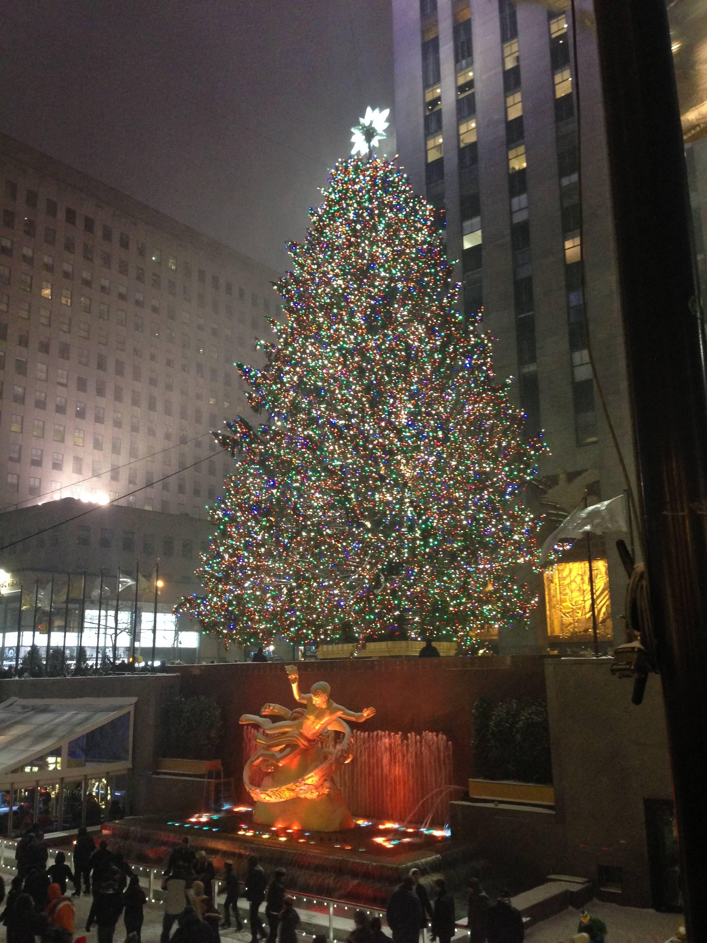 Photo 1: Le sapin du Rockefeller Center