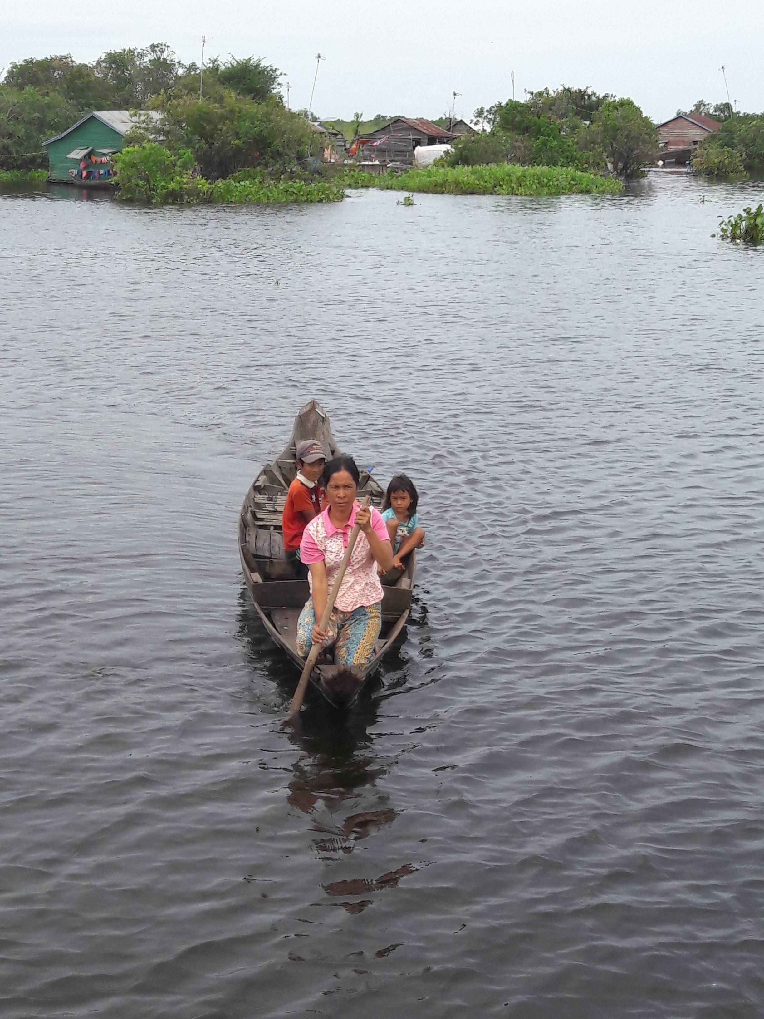 Photo 2: De Siem Reap à Battambang en bateau