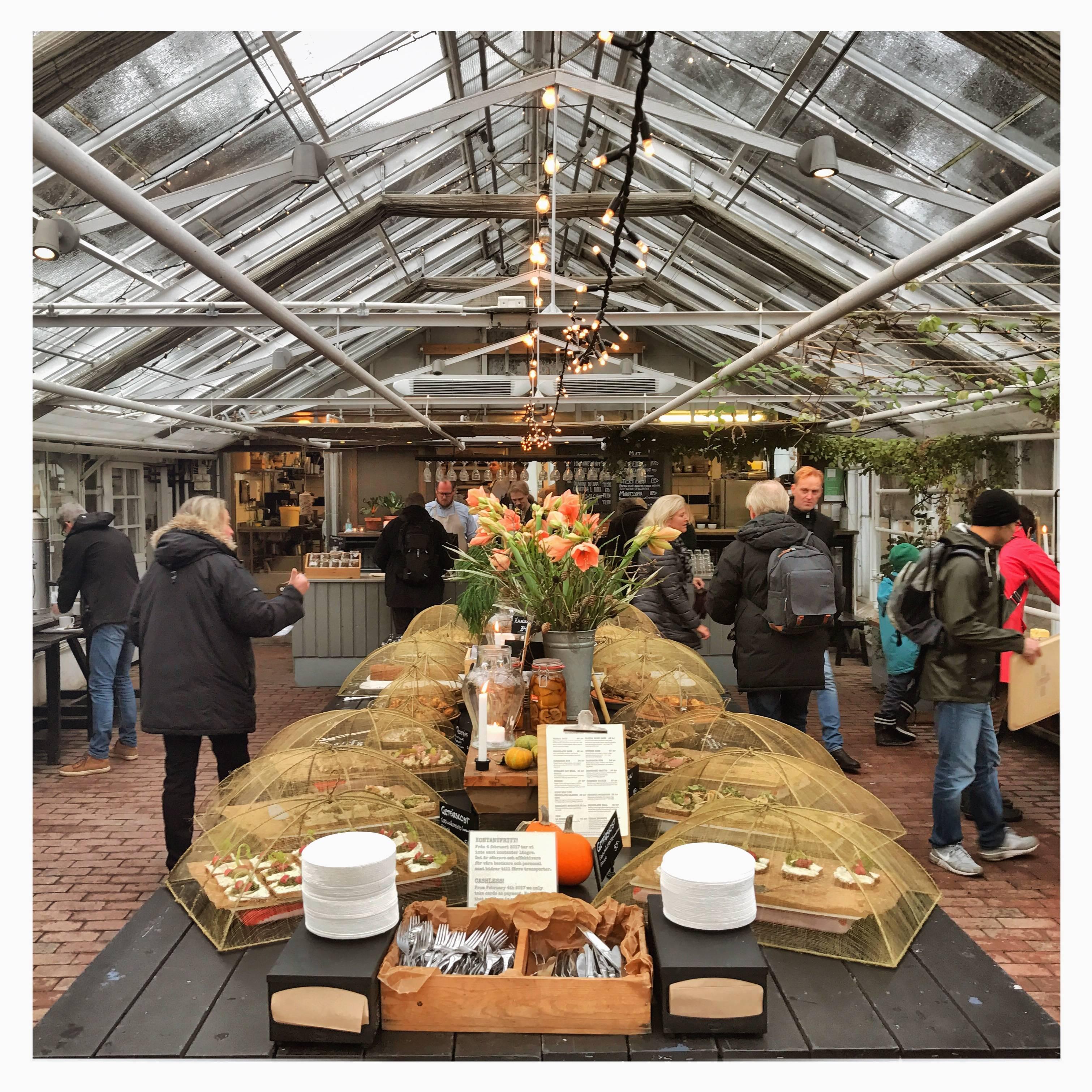 Photo 1: Manger un kanelbullar au Rosendals Trädgård café.