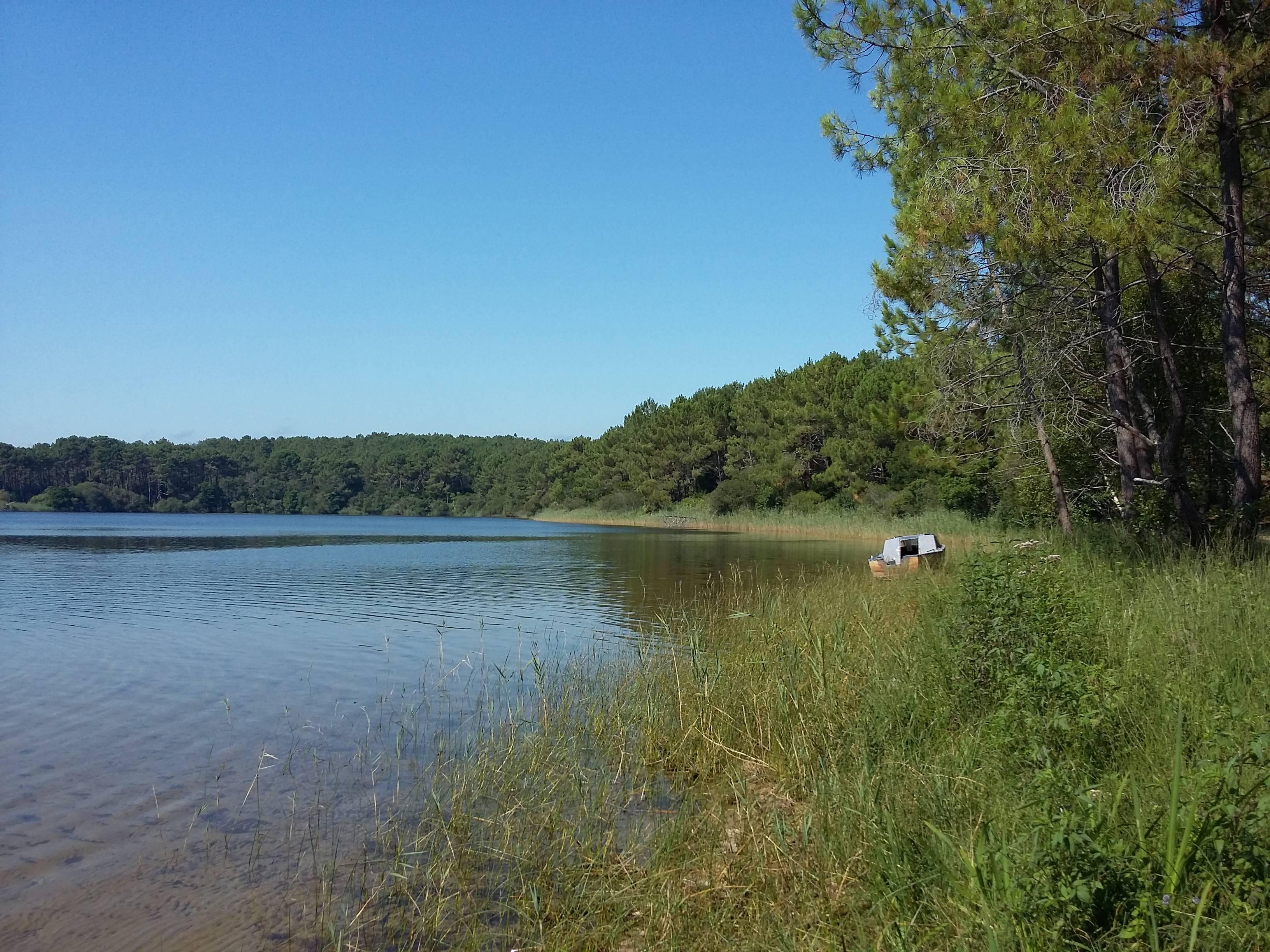 Photo 1: Sur la plage abandonnée au lac de lacanau