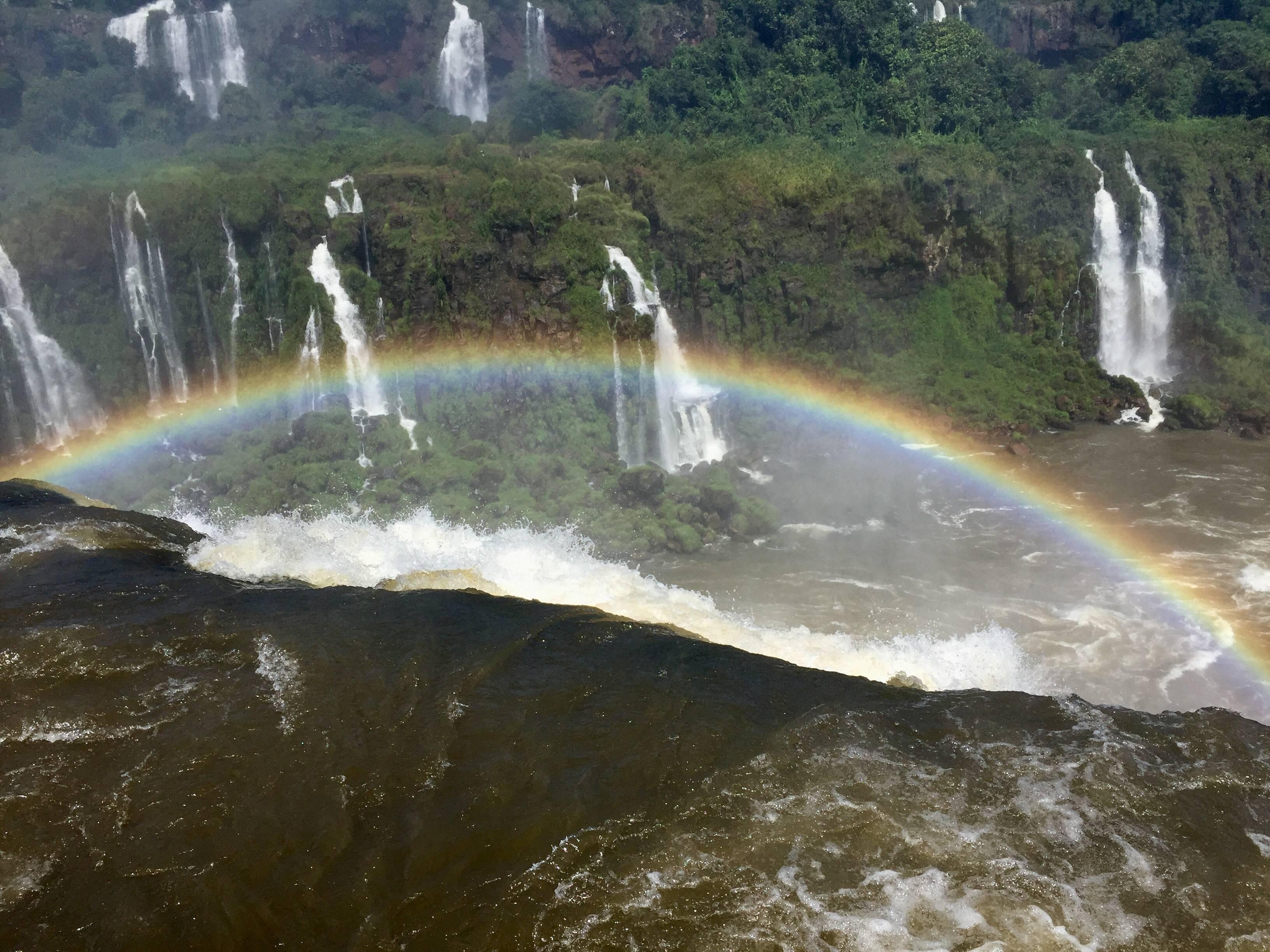 Photo 1: Iguazu sous arc en ciels
