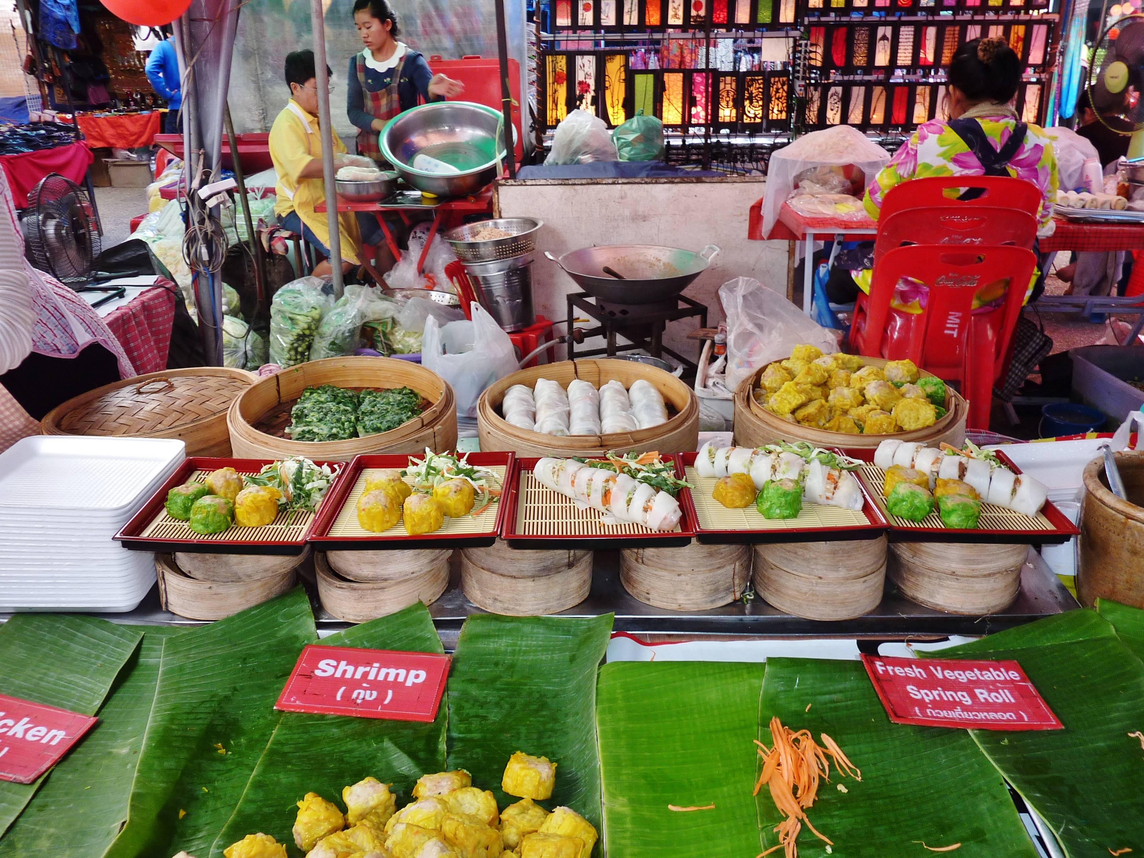 Photo 2: les marchés de Chiang Mai