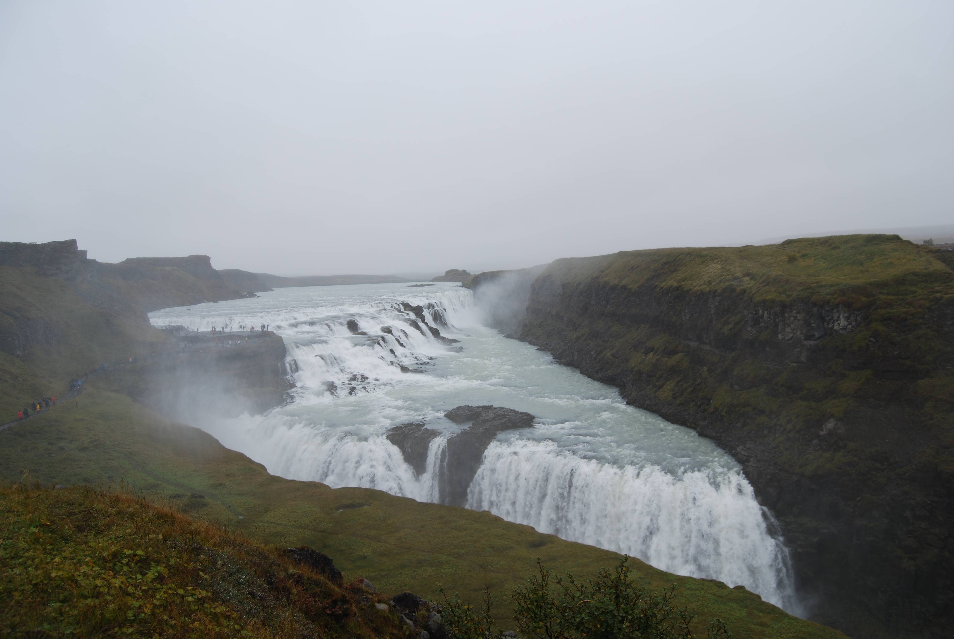 Photo 1: Gullfoss, la double cascade !