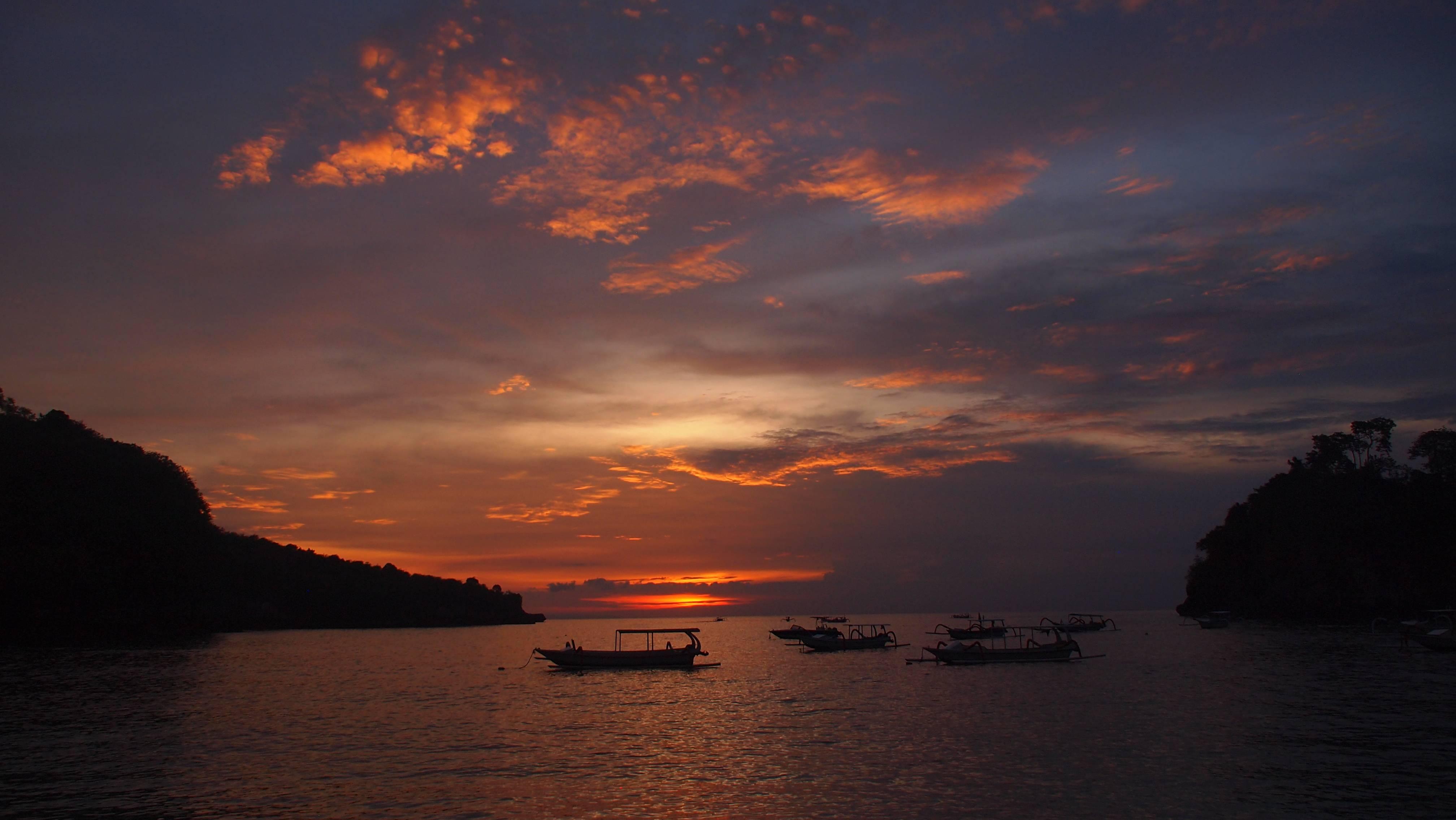 Photo 1: Coucher de soleil à Crystal Bay