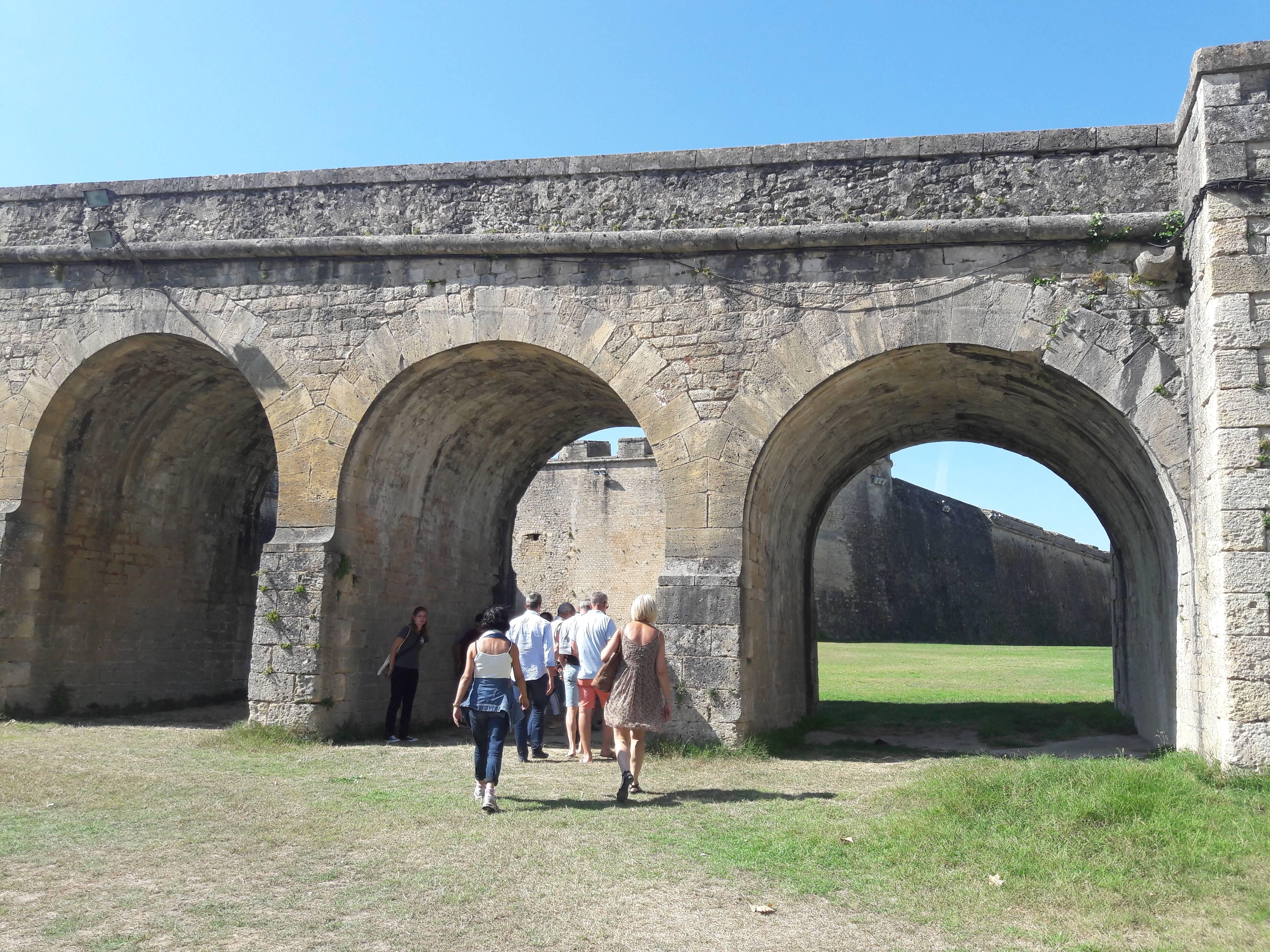 Photo 1: Visite des souterrains de la citadelle de Blaye