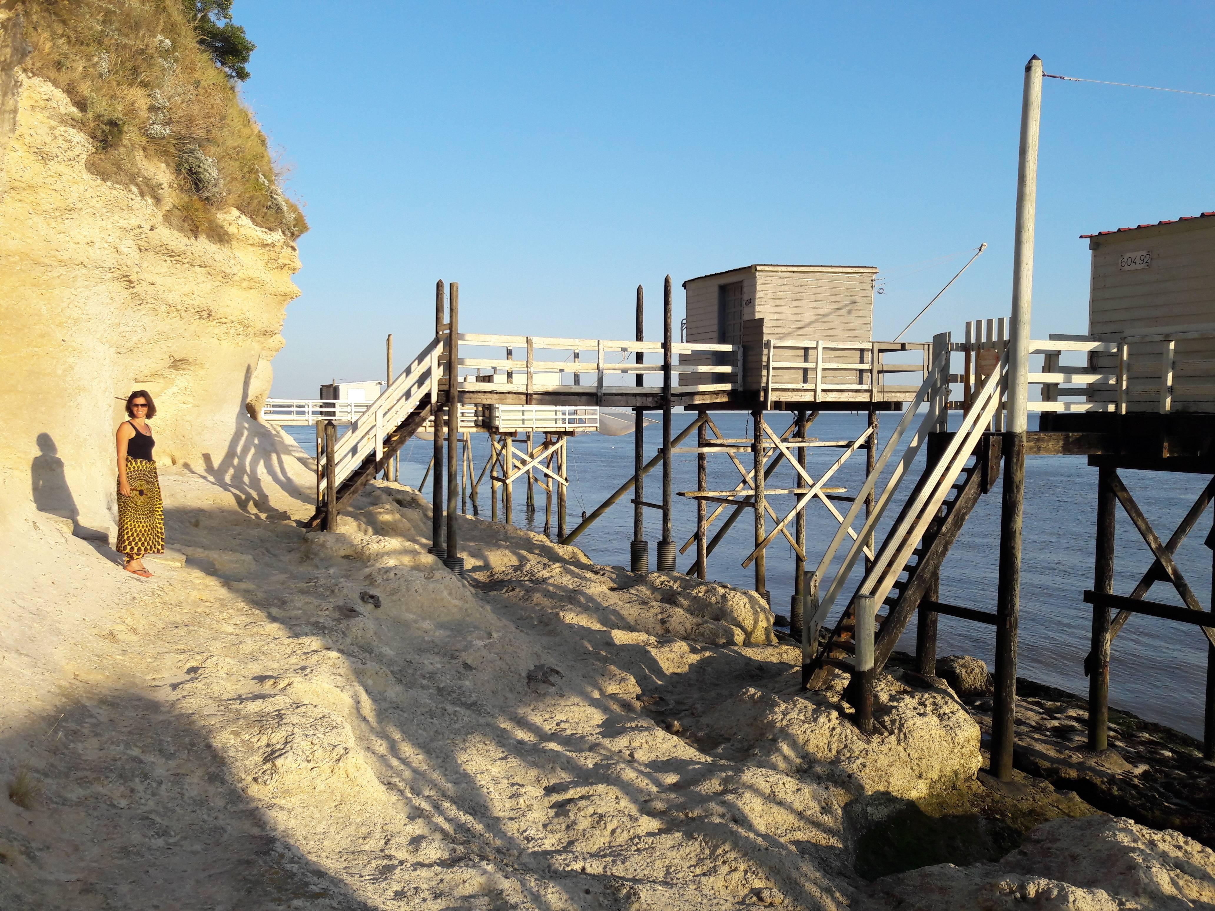 Photo 3: Balade au pied des falaises de Meschers sur Gironde