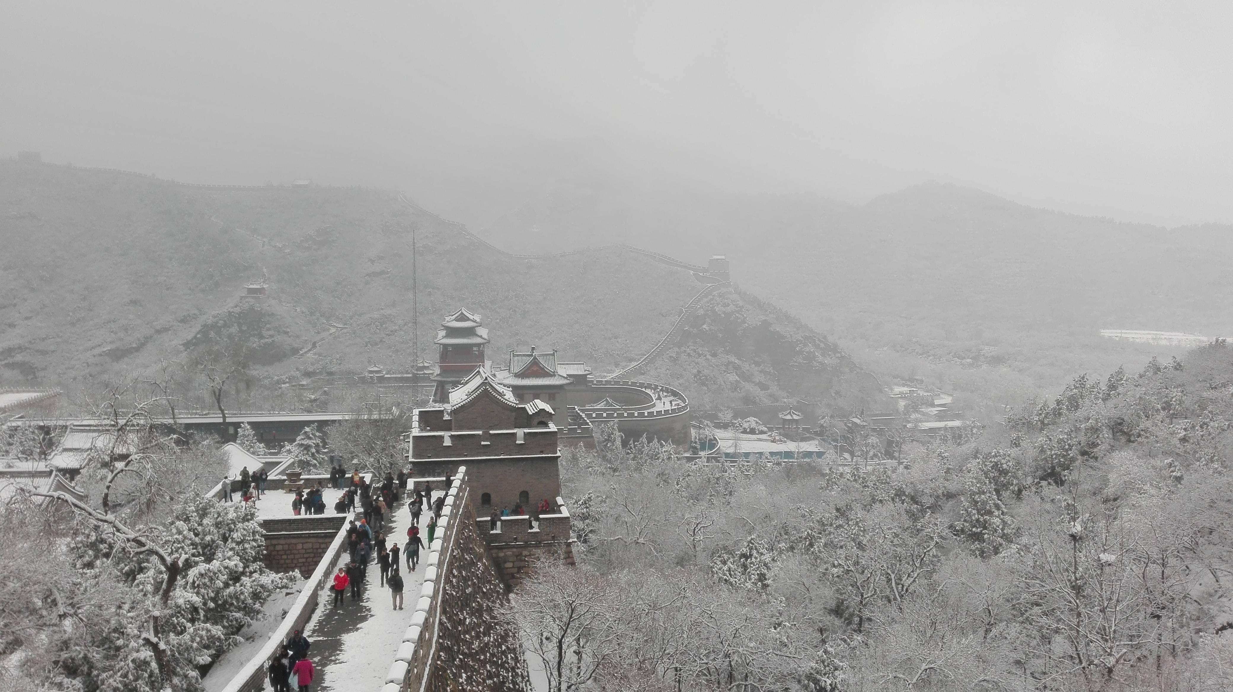 Photo 2: La Grande Muraille de Chine....sous la neige....