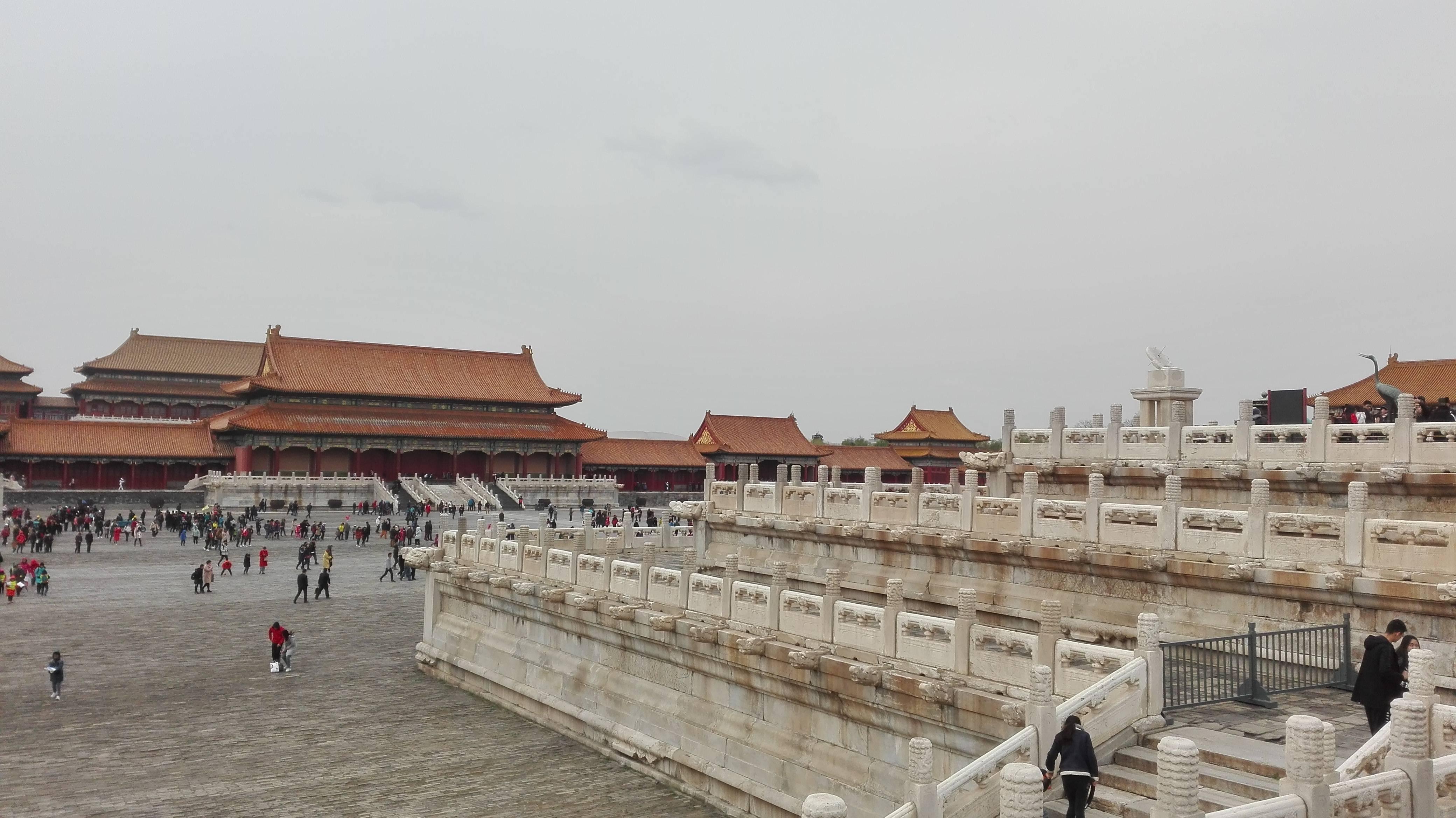 Photo 2: La Cité interdite à Pékin....en compagnie de milliers de touristes...chinois