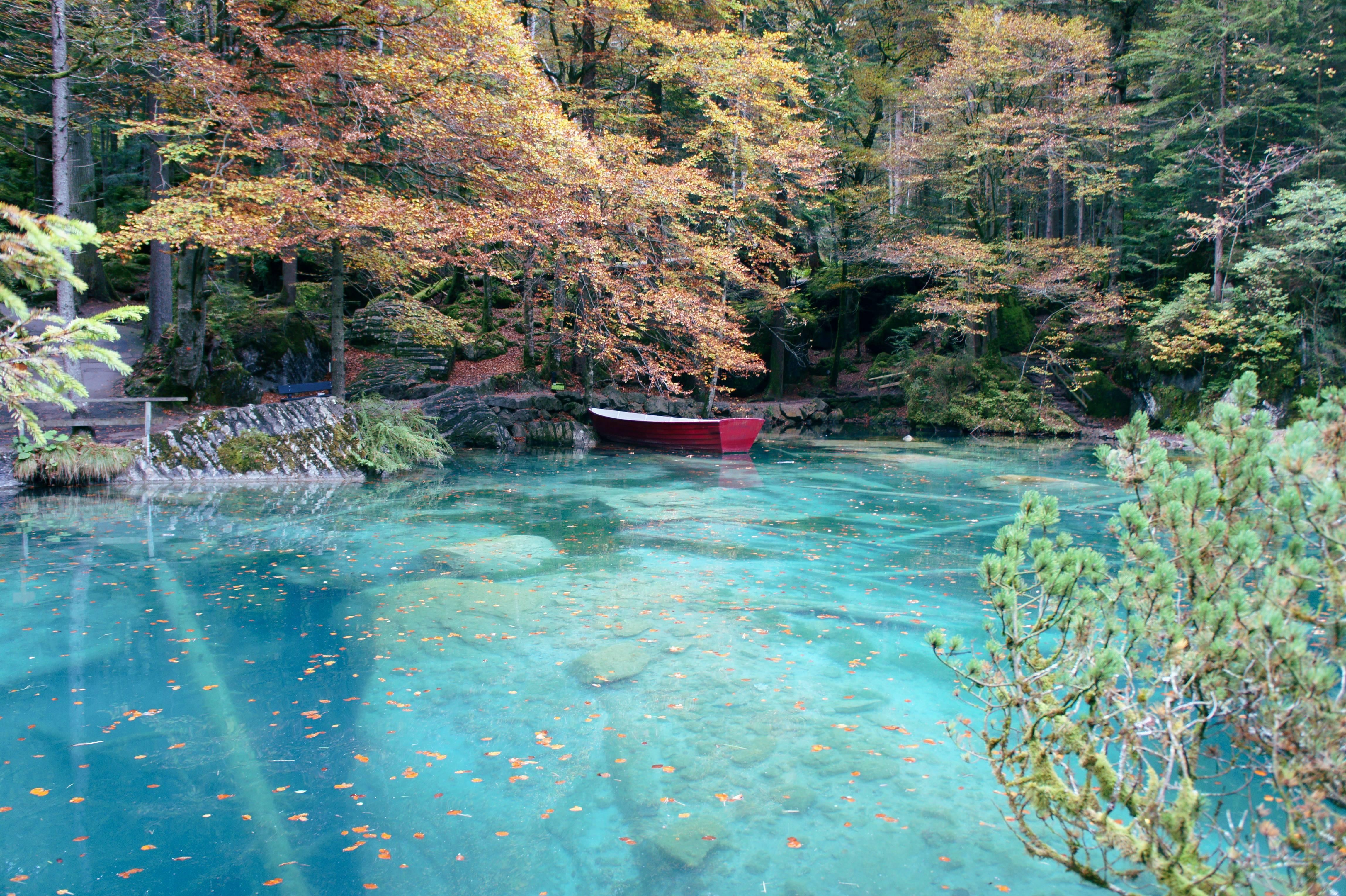 Photo 1: Le Lac de Blausee : L'eau cristalline qui coule de source