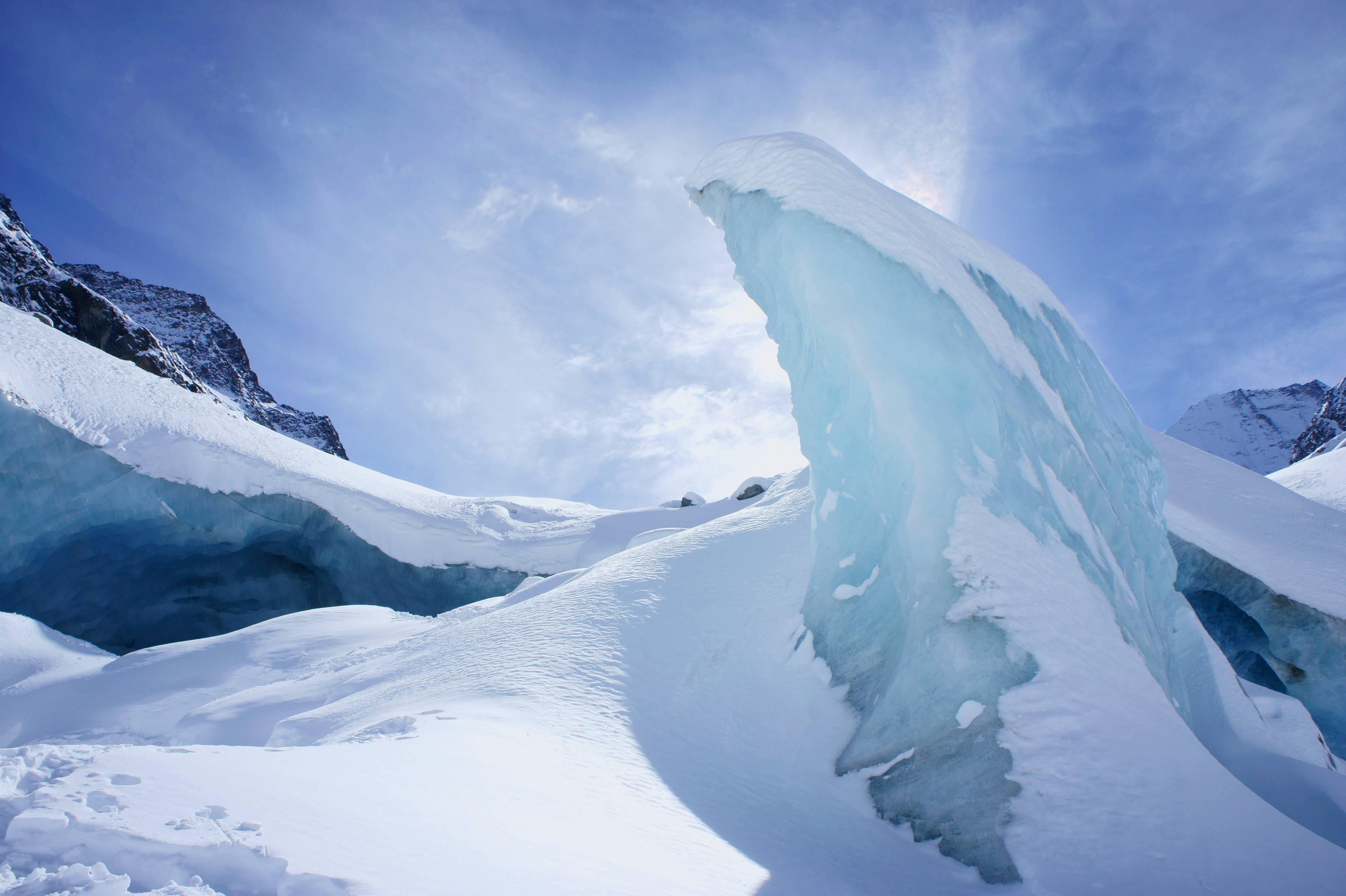 Photo 3: Au cœur d'un glacier : Zinal