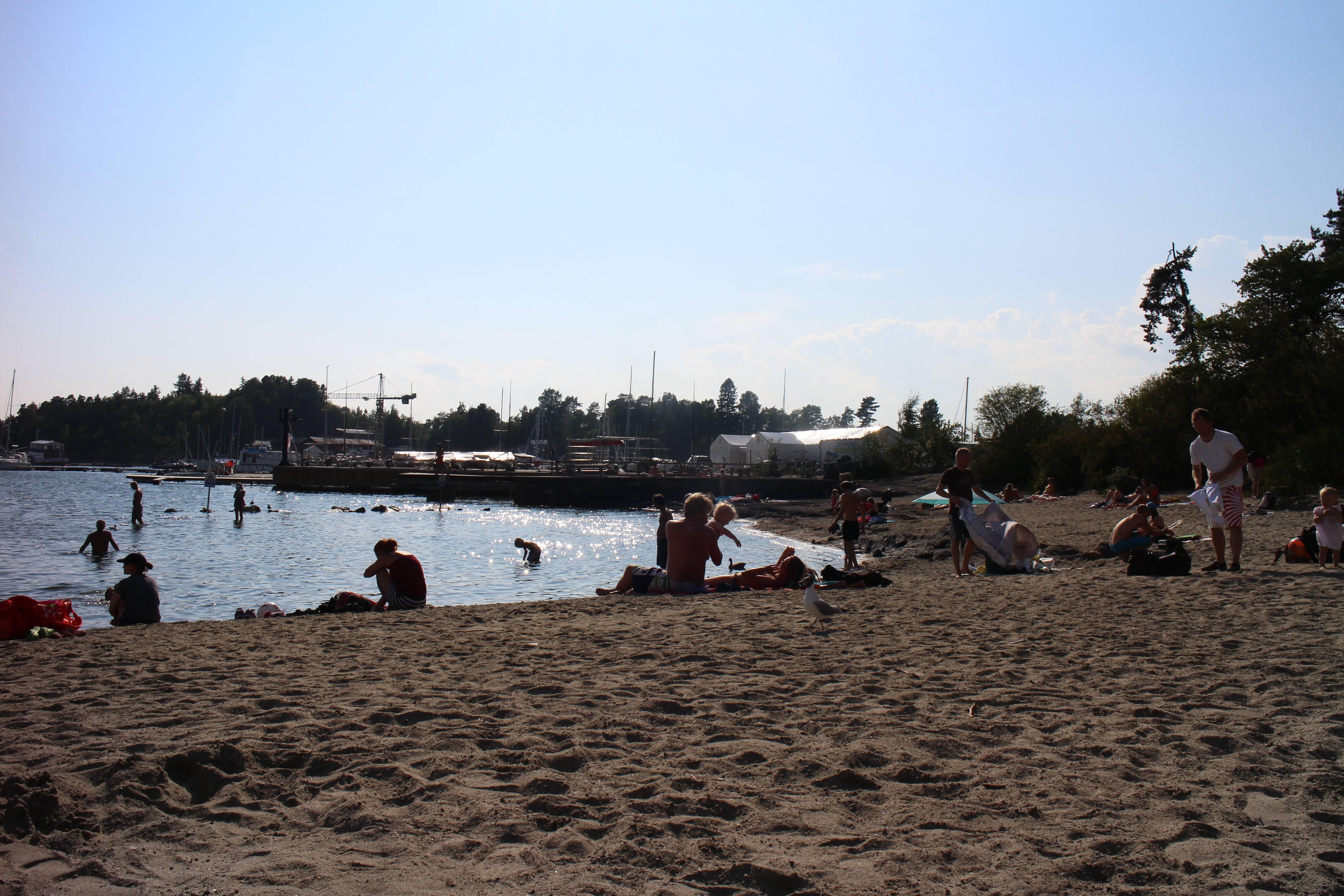 Photo 1: La plage de Bygdoy, la presqu'ile d'Oslo