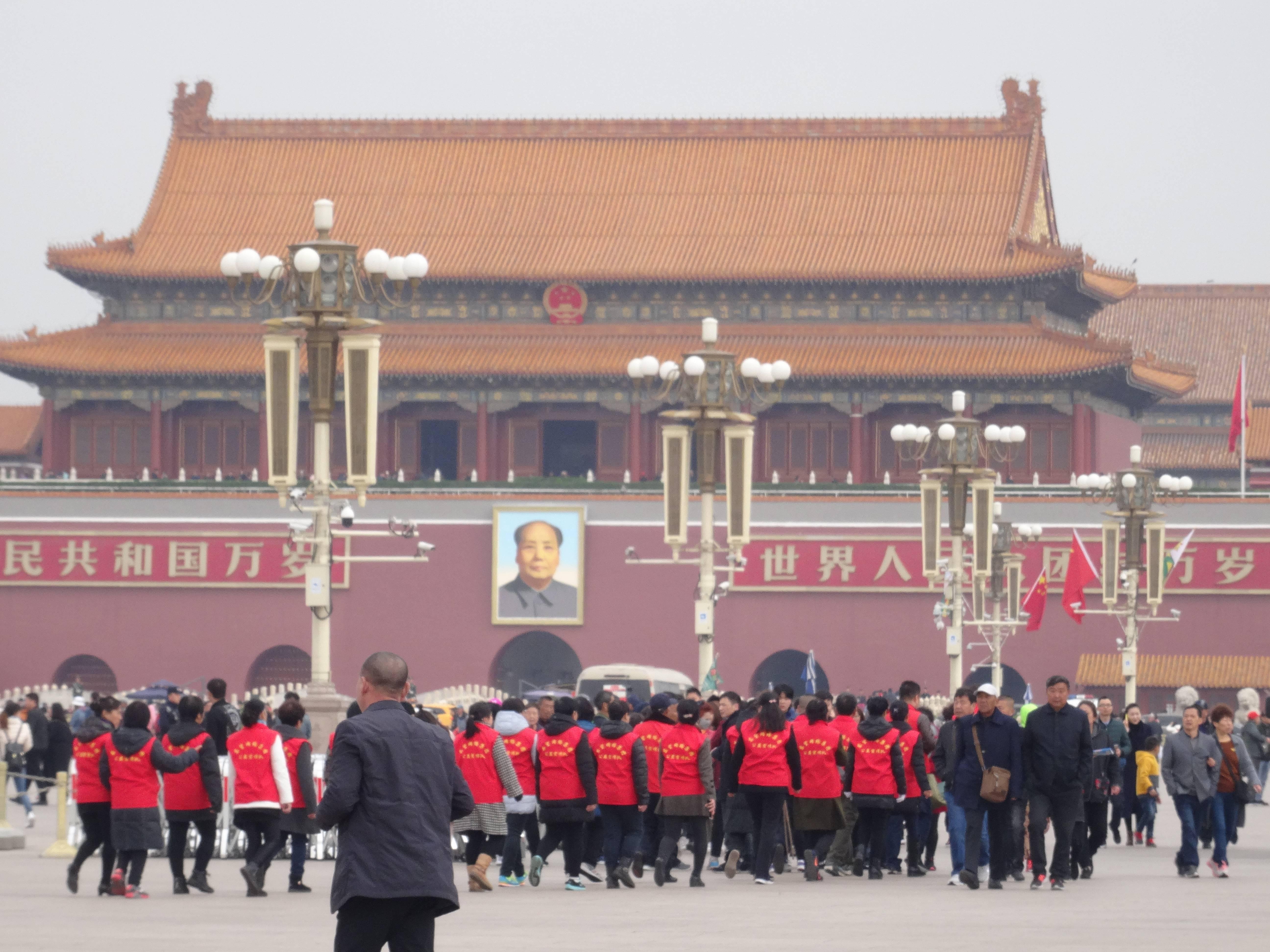 Photo 1: Chine, Pékin, la Place Tien'anmen....un incontournable...