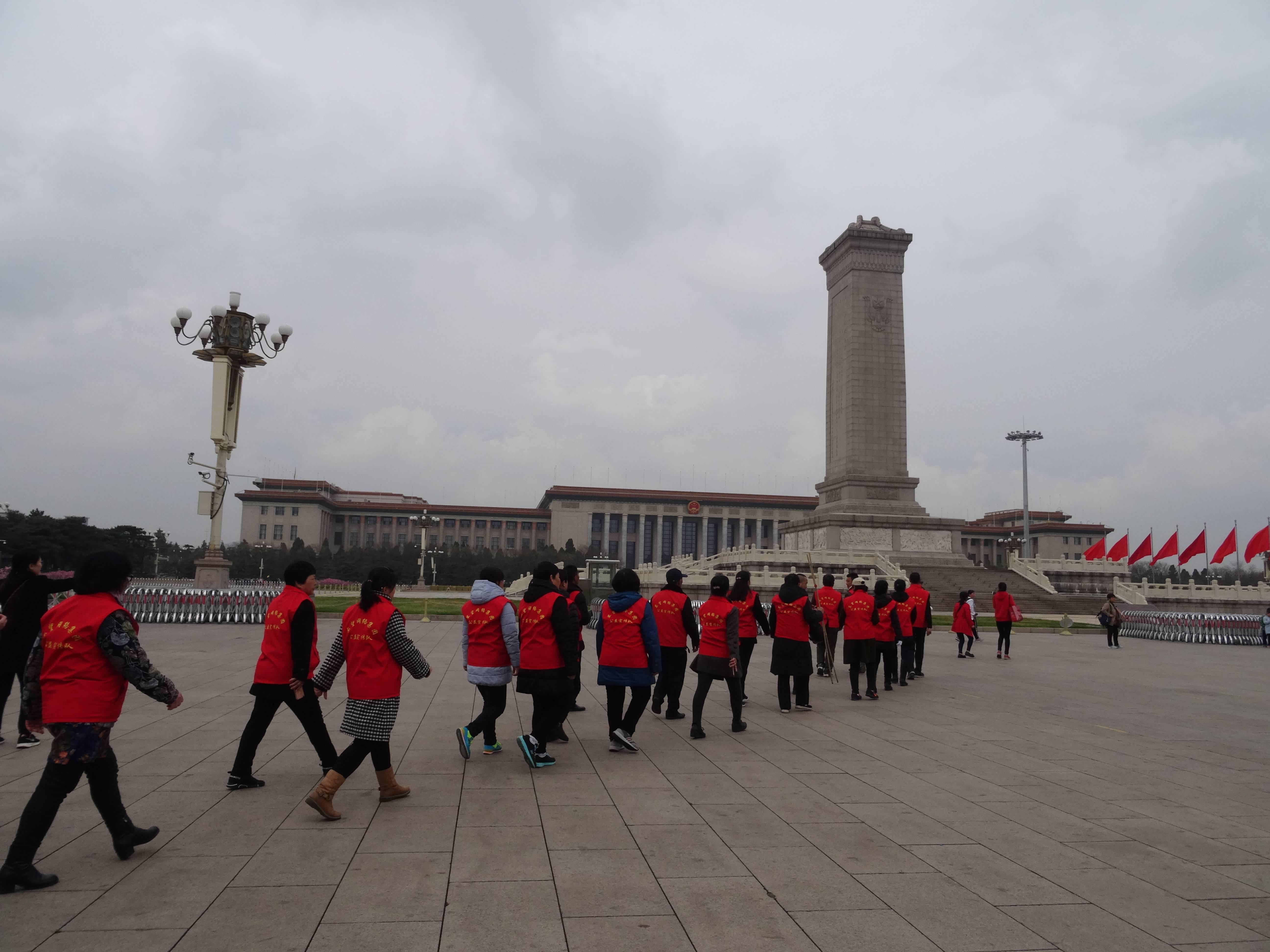 Photo 2: Chine, Pékin, la Place Tien'anmen....un incontournable...