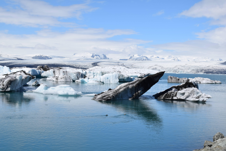 Photo 2: jokulsarlon : iceberg et plage de sable noir en islande du sud