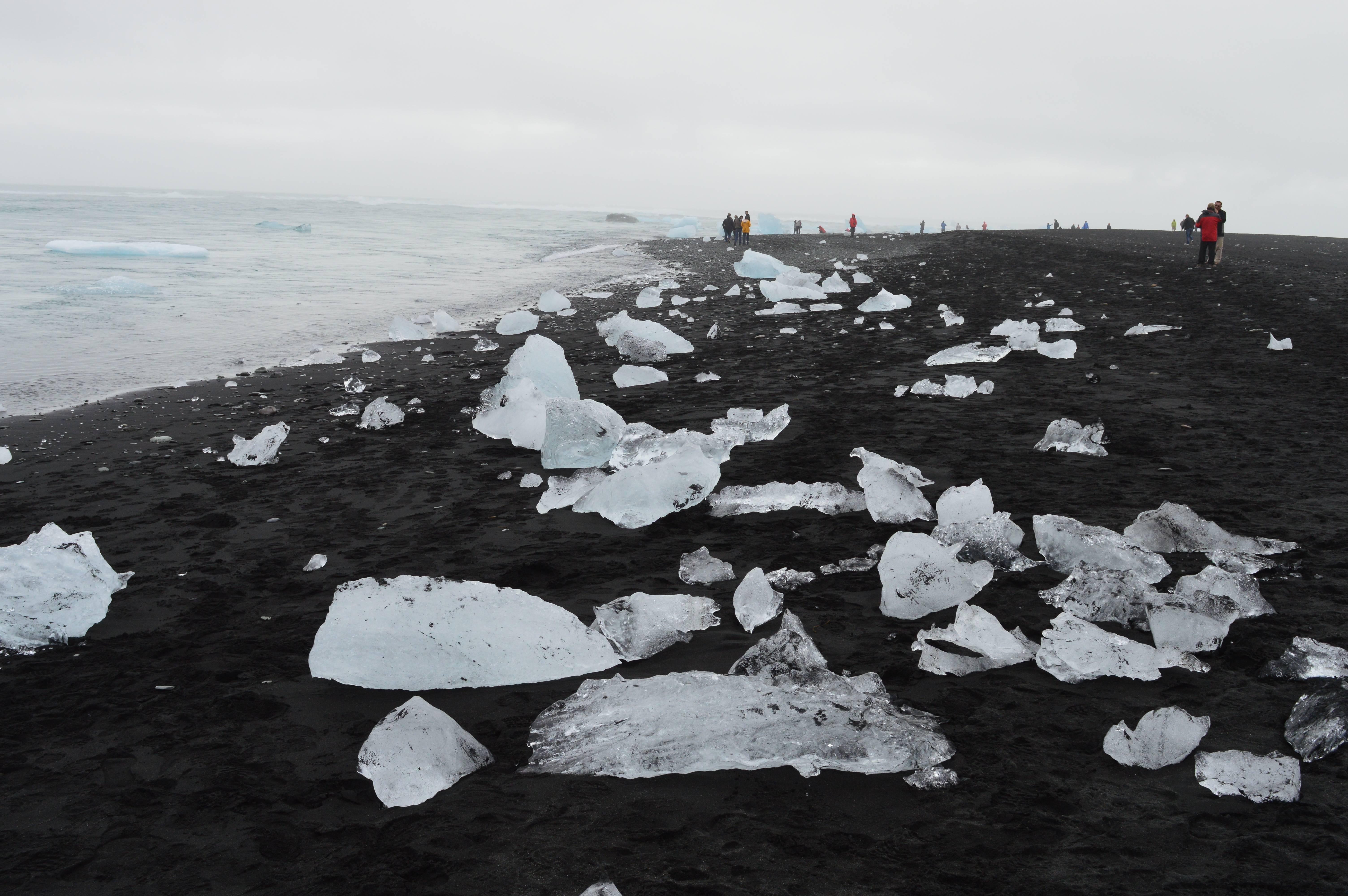 Photo 1: Le lac aux icebergs en Islande