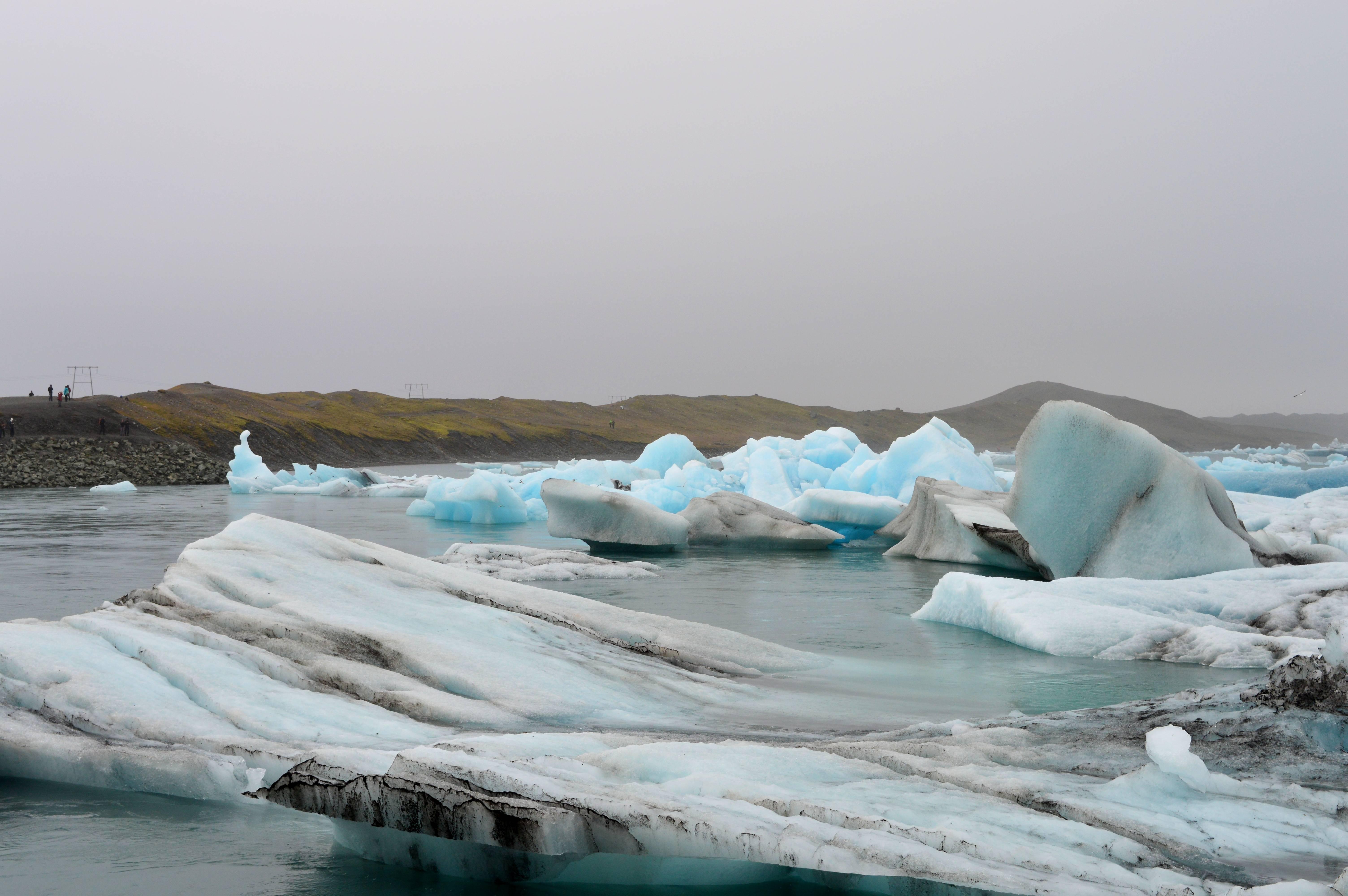 Photo 2: Le lac aux icebergs en Islande