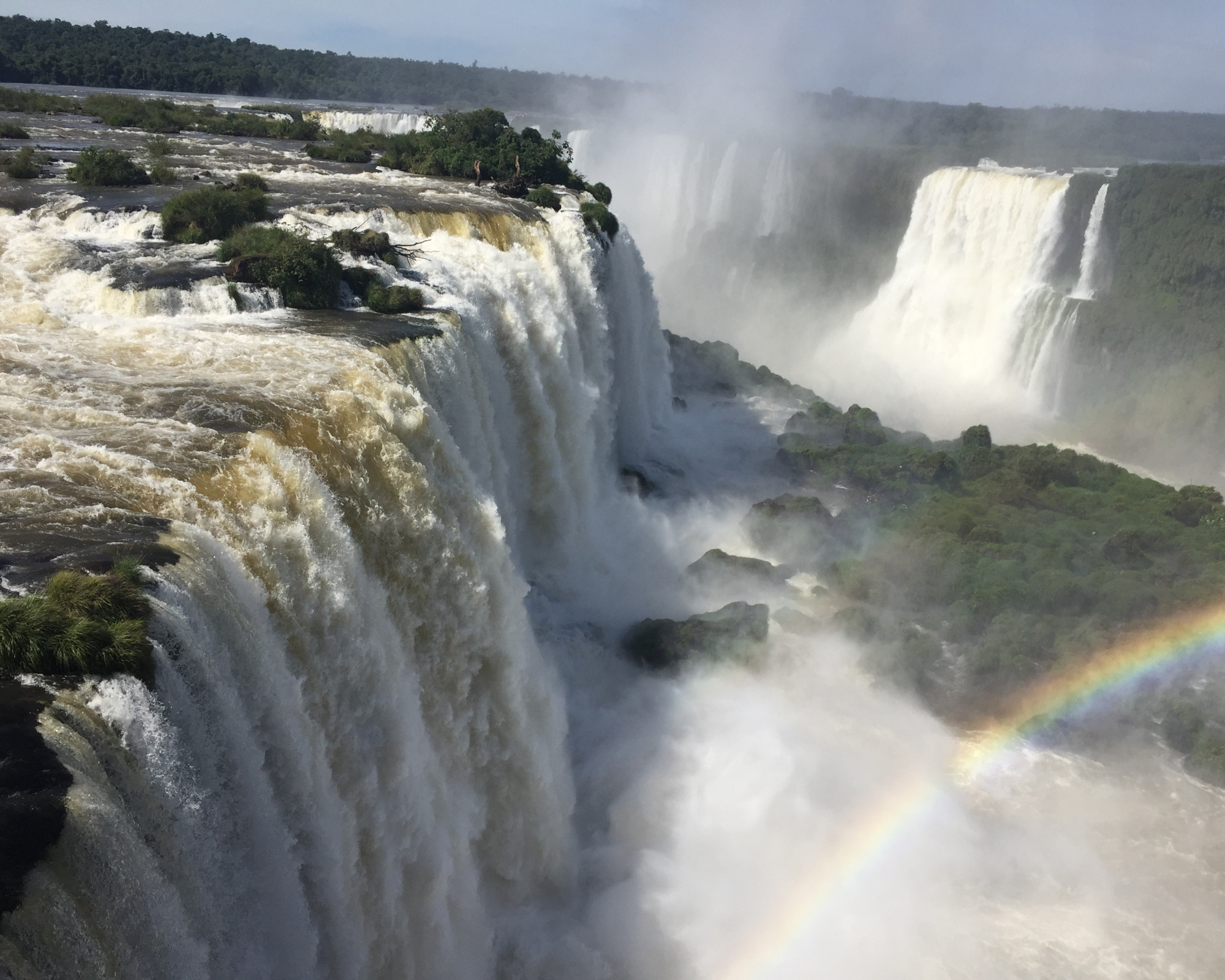 Photo 2: Iguazu sous arc en ciels